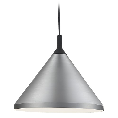 Kuzco Lighting Kuzco Lighting Dorothy Brushed Nickel / Black Pendant Light with Conical Shade 492814-BN/BK