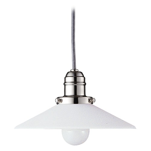 Hudson Valley Lighting Mini-Pendant Light with White Glass 3102-PN-008