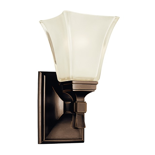 Hudson Valley Lighting Sconce with White Glass in Old Bronze Finish 1171-OB