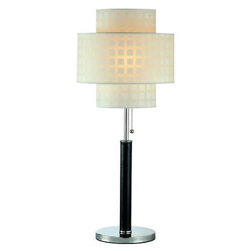Lite Source Lighting Lite Source Lighting Olina Leather Table Lamp with Drum Shade LS-20290