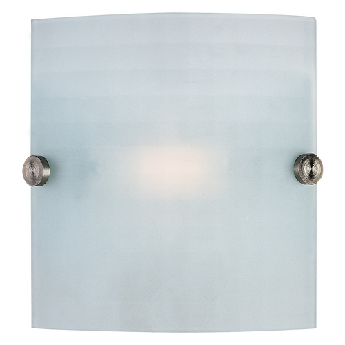 Access Lighting Modern Sconce Wall Light with White Glass in Brushed Steel Finish 62054-BS/CKF