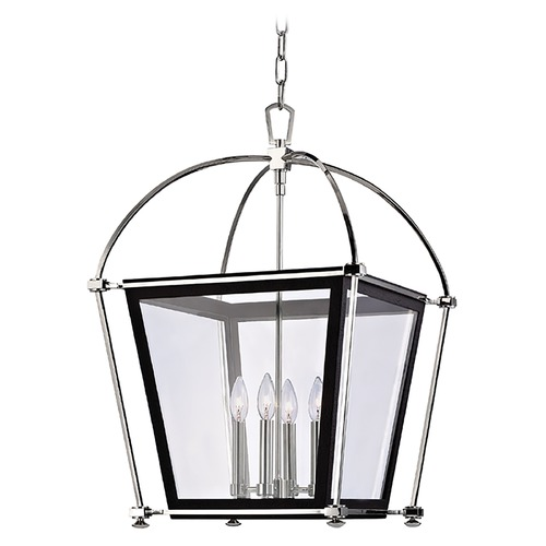 Hudson Valley Lighting Pendant Light with Clear Glass in Polished Nickel Finish 3618-PN