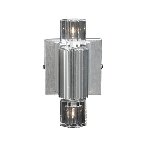PLC Lighting Modern Sconce Wall Light with Clear Glass in Aluminum Finish 6126  AL