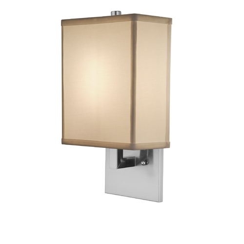 Design Classics Lighting Modern Sconce Wall Light in Satin Nickel Finish DCL 9129-09