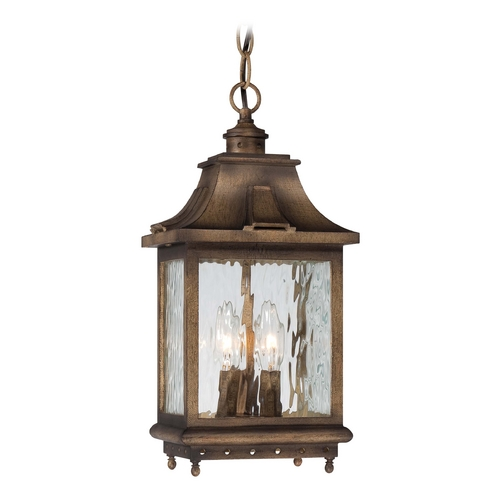 Minka Lavery Outdoor Hanging Light with Clear Glass in Portsmouth Bronze Finish 72114-149
