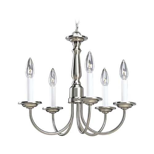 Progress Lighting Progress Chandelier in Brushed Nickel Finish P4009-09