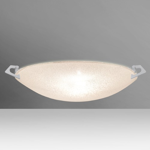 Besa Lighting Besa Lighting Sonya Satin Nickel Flushmount Light 8417GL-SN