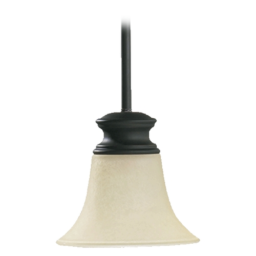 Quorum Lighting Quorum Lighting Madison Old World Mini-Pendant Light with Bell Shade 3274-95