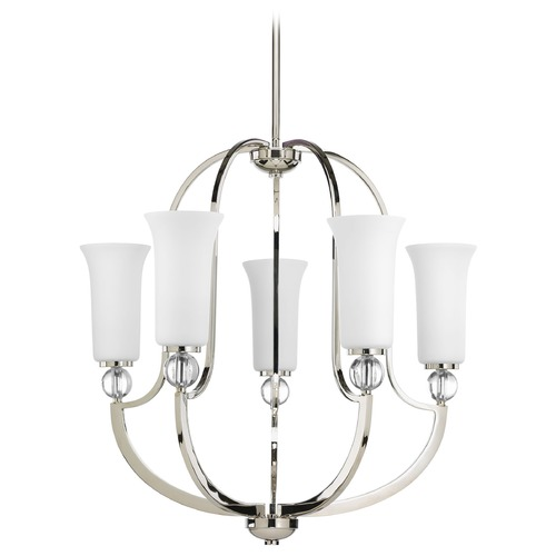 Progress Lighting Progress Lighting Elina Polished Nickel Chandelier P4651-104