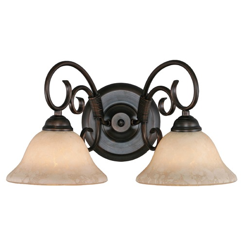 Golden Lighting Golden Lighting Homestead Rubbed Bronze Bathroom Light 8606-BA2 RBZ-TEA