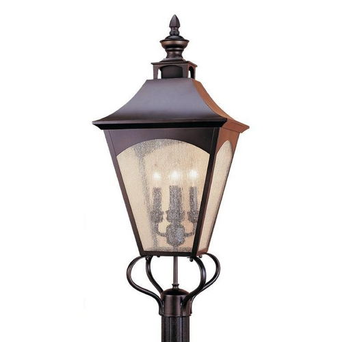 Feiss Lighting Post Light with Clear Glass in Oil Rubbed Bronze Finish OL1007ORB