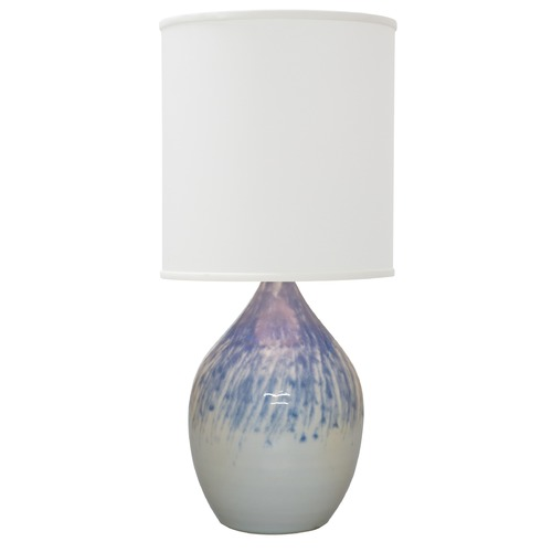 House of Troy Lighting House of Troy Scatchard Decorated Gray Table Lamp with Cylindrical Shade GS201-DG