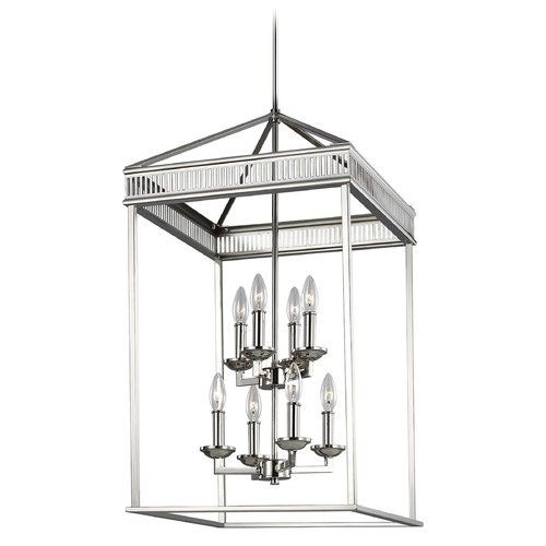Feiss Lighting Feiss Lighting Woodruff Polished Nickel Pendant Light F3276/8PN