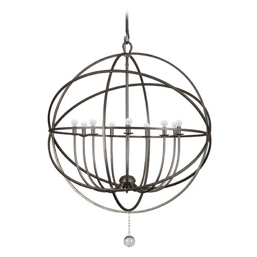 Crystorama Lighting Chandelier in English Bronze Finish 9229-EB