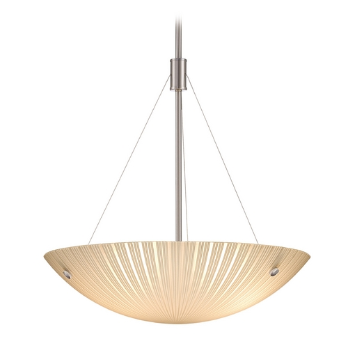 Lite Source Lighting Lite Source Lighting Rocco Polished Steel Pendant Light LS-18461