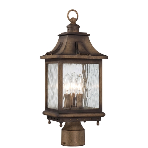 Minka Lavery Post Light with Clear Glass in Portsmouth Bronze Finish 72116-149