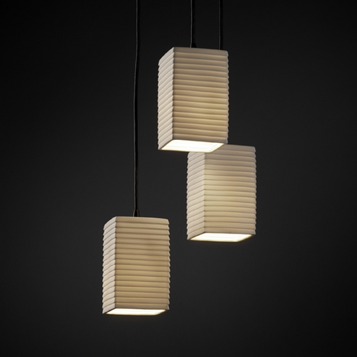 Justice Design Group Justice Design Group Limoges Collection Multi-Light Pendant POR-8864-15-SAWT-MBLK