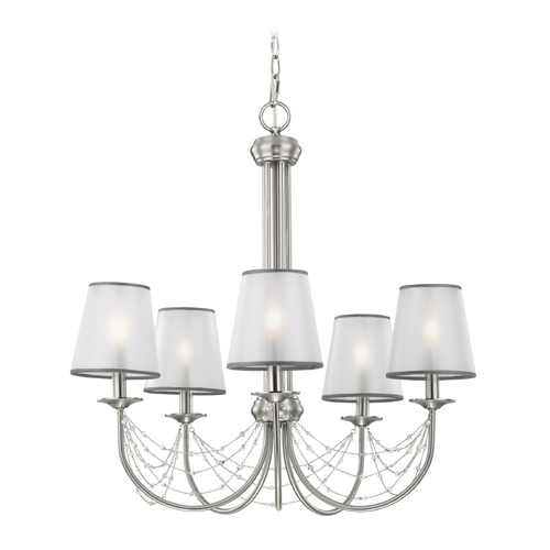 Feiss Lighting Feiss Lighting Aveline Brushed Steel Chandelier F2919/5BS
