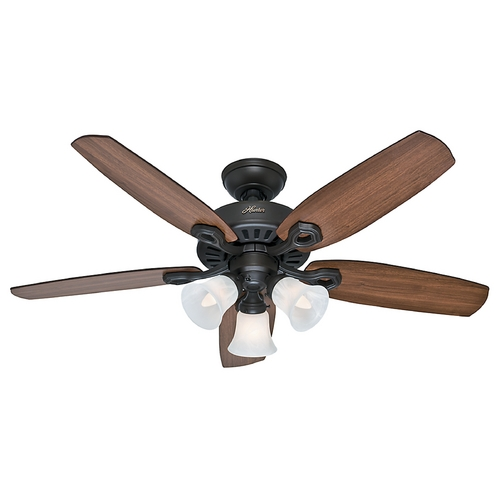 Hunter Fan Company Hunter Fan Company Builder Small Room New Bronze Ceiling Fan with Light 52107