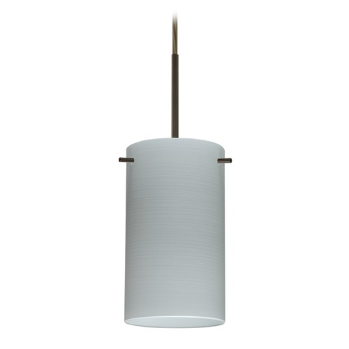 Besa Lighting Besa Lighting Stilo Bronze LED Mini-Pendant Light with Cylindrical Shade 1BT-4404KR-LED-BR