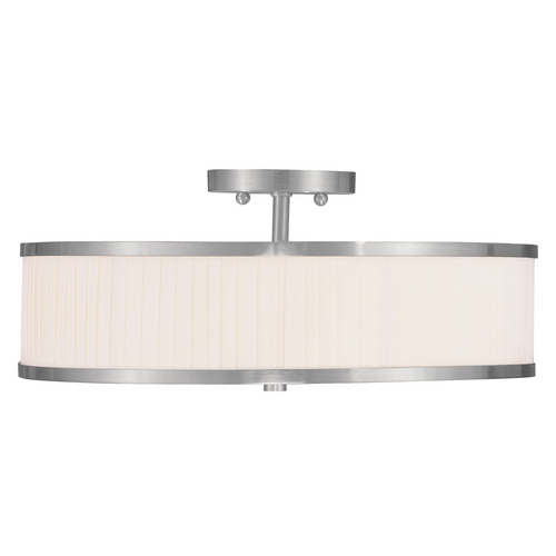 Livex Lighting Livex Lighting Park Ridge Brushed Nickel Semi-Flushmount Light 6351-91