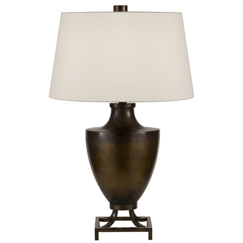 Fine Art Lamps Fine Art Lamps Recollections Bronze with Golden Mist Highlights Table Lamp with Empire Shade 828310-2ST