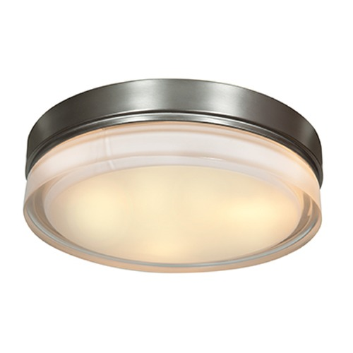 Access Lighting Access Lighting Solid Brushed Steel LED Flushmount Light 20776LEDD-BS/OPL