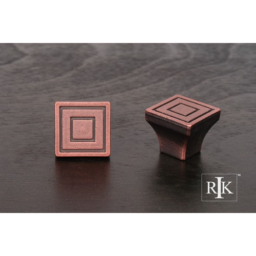 RK International Small Contemporary Square Knob CK771DC