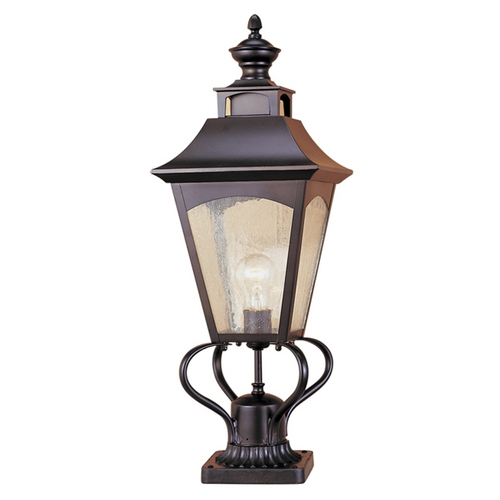 Feiss Lighting Post Light with Clear Glass in Oil Rubbed Bronze Finish OL1008ORB