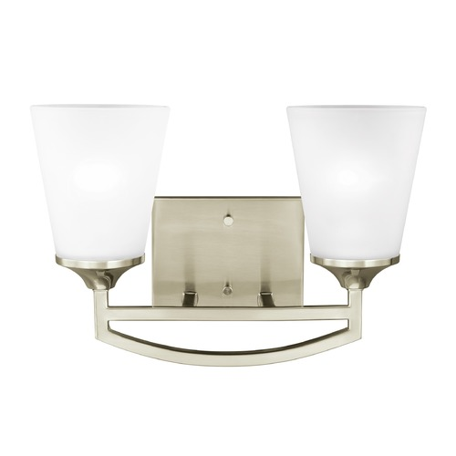Sea Gull Lighting Sea Gull Lighting Hanford Brushed Nickel LED Bathroom Light 4424502EN3-962
