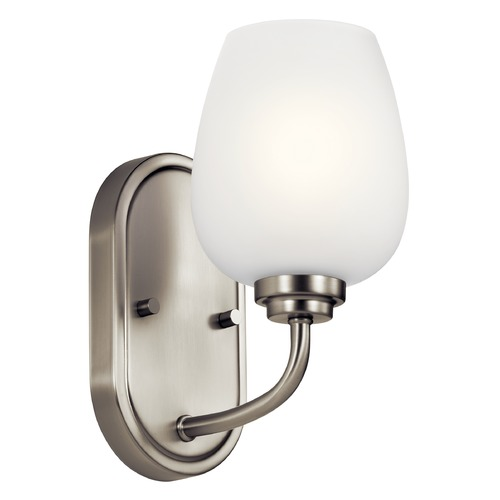 Kichler Lighting Valserrano Brushed Nickel Sconce with Satin Etched Glass 44381NI