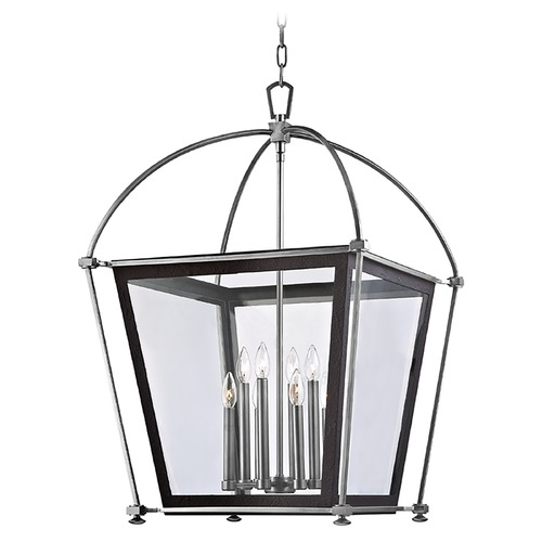 Hudson Valley Lighting Pendant Light with Clear Glass in Polished Nickel Finish 3624-PN