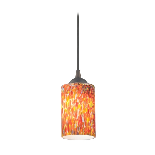 Design Classics Lighting Modern Mini-Pendant Light with Art Glass 582-220 GL1012C