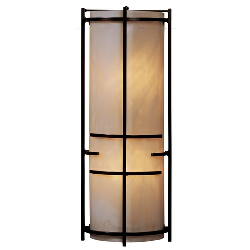 Hubbardton Forge Lighting Modern Sconce Wall Light with Art Glass in Bronze Finish 205910-05-C412