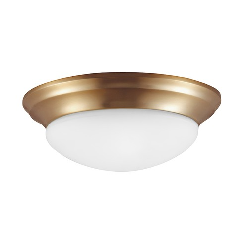 Sea Gull Lighting Sea Gull Lighting Nash Satin Bronze Flushmount Light 75436-848