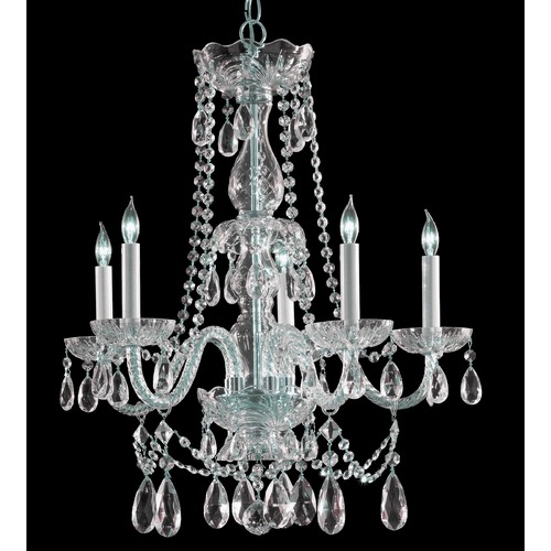 Crystorama Lighting Crystorama Lighting Traditional Crystal Polished Chrome Chandelier 1125-CH-CL-SAQ