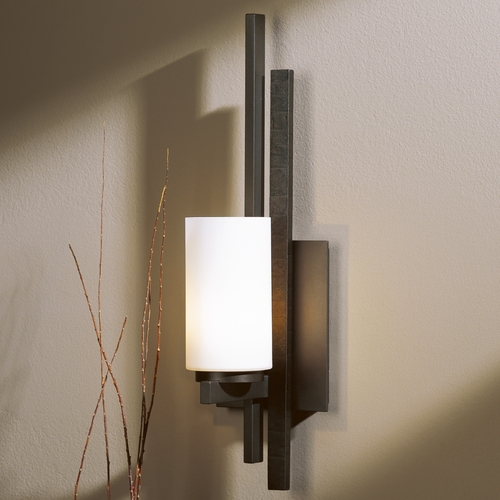 Hubbardton Forge Lighting Hubbardton Forge Lighting Trestle Dark Smoke Sconce 206301L-07-G168