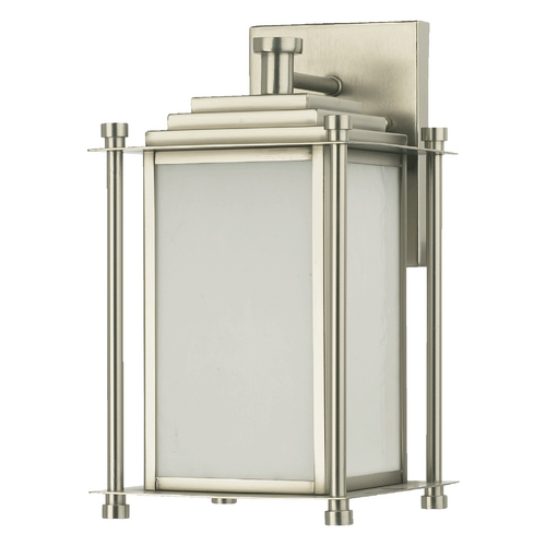 Quorum Lighting Quorum Lighting Shoreham Satin Nickel Outdoor Wall Light 7950-1-65