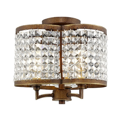 Livex Lighting Livex Lighting Grammercy Hand Painted Palacial Bronze Semi-Flushmount Light 50573-64