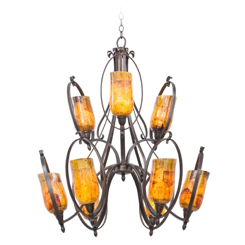 Kalco Lighting Kalco Lighting Mateo Heirloom Bronze Chandelier 7241HB/PENSH