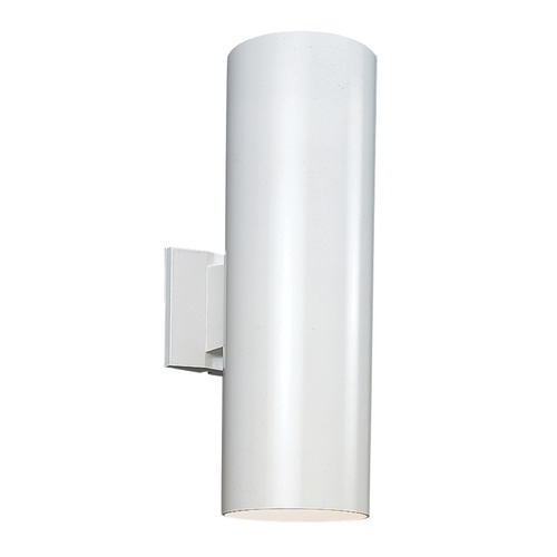 Sea Gull Lighting Sea Gull Lighting Outdoor Bullets White Outdoor Wall Light 8313802-15