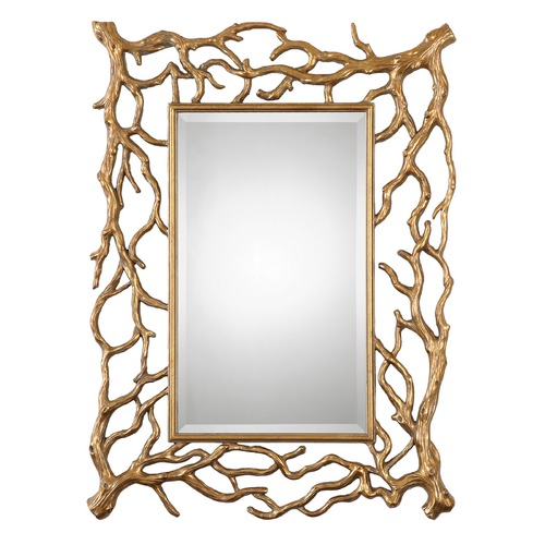 Uttermost Lighting Uttermost Sequoia Gold Tree Branch Mirror 08131