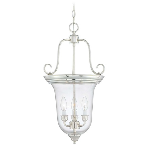 Savoy House Savoy House Polished Nickel Pendant Light with Bell Shade 3-8521-3-109