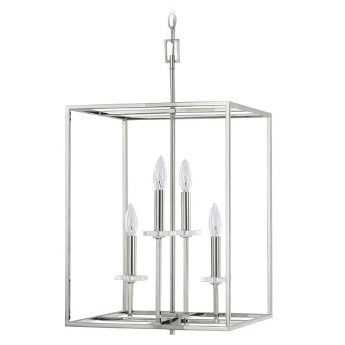Capital Lighting Capital Lighting Morgan Polished Nickel Pendant Light 7002PN