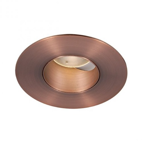 WAC Lighting WAC Lighting Round Copper Bronze 2-Inch LED Recessed Trim 3500K 840LM 40 Degree HR2LEDT309PF835CB