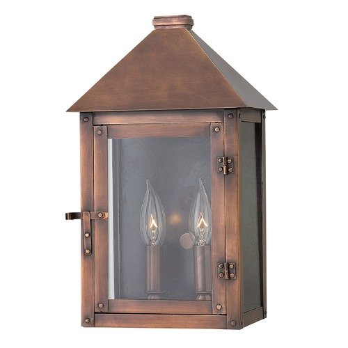 Hinkley Lighting Hinkley Lighting Thatcher Antique Copper Outdoor Wall Light 18200AP