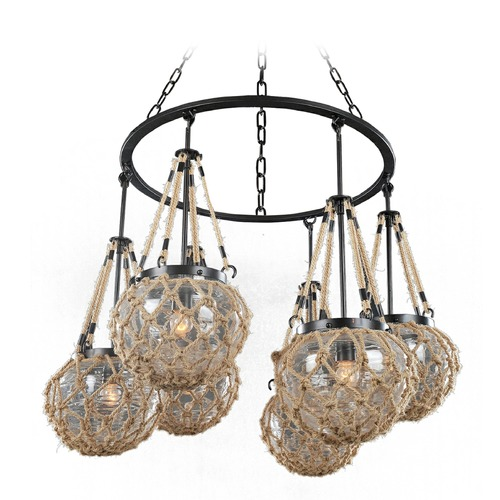 Kalco Lighting Kalco Hatteras Satin Bronze Chandelier 308570SZ