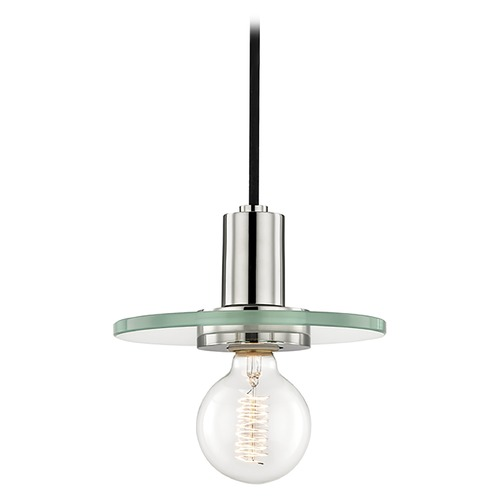 Mitzi by Hudson Valley Mid-Century Modern Pendant Light Polished Nickel Mitzi by Hudson Valley H113701L-PN
