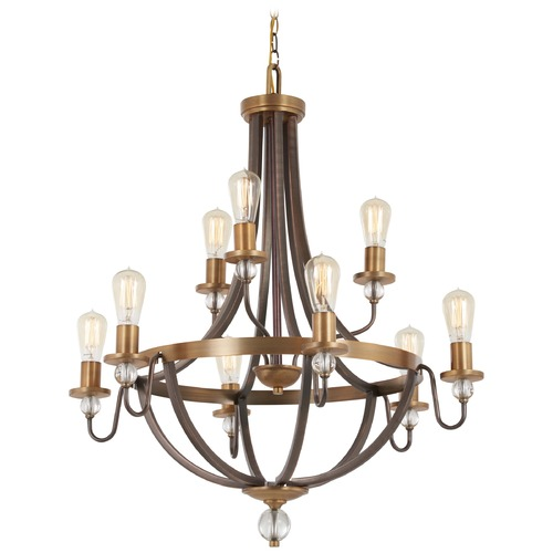 Minka Lavery Minka Lavery Safra Harvard Court Bronze with natural Chandelier 4739-113