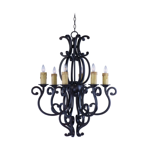 Maxim Lighting Chandelier in Colonial Umber Finish 31005CU